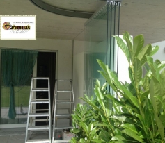 Fermeture de balcon à Saillon